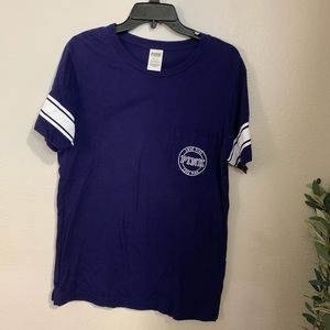 PINK Royal Blue Pocket Tee